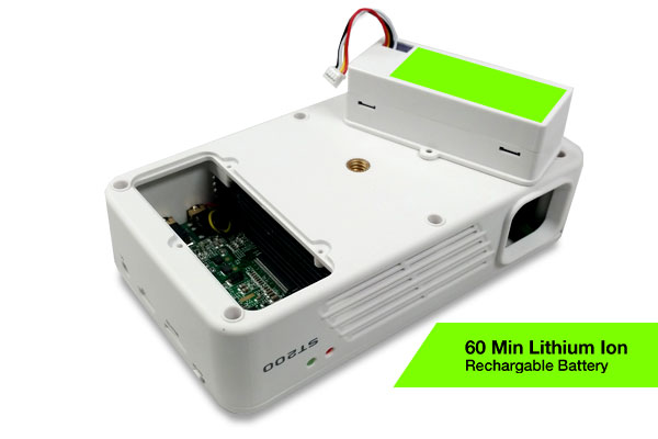 ST200 Short Throw LED Pico Projector Long Lasting 60 Min Lithium Rechargeable Battery